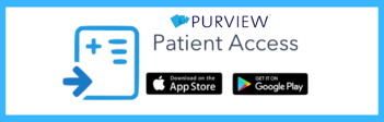 Purview Patient Access App with Blue Border